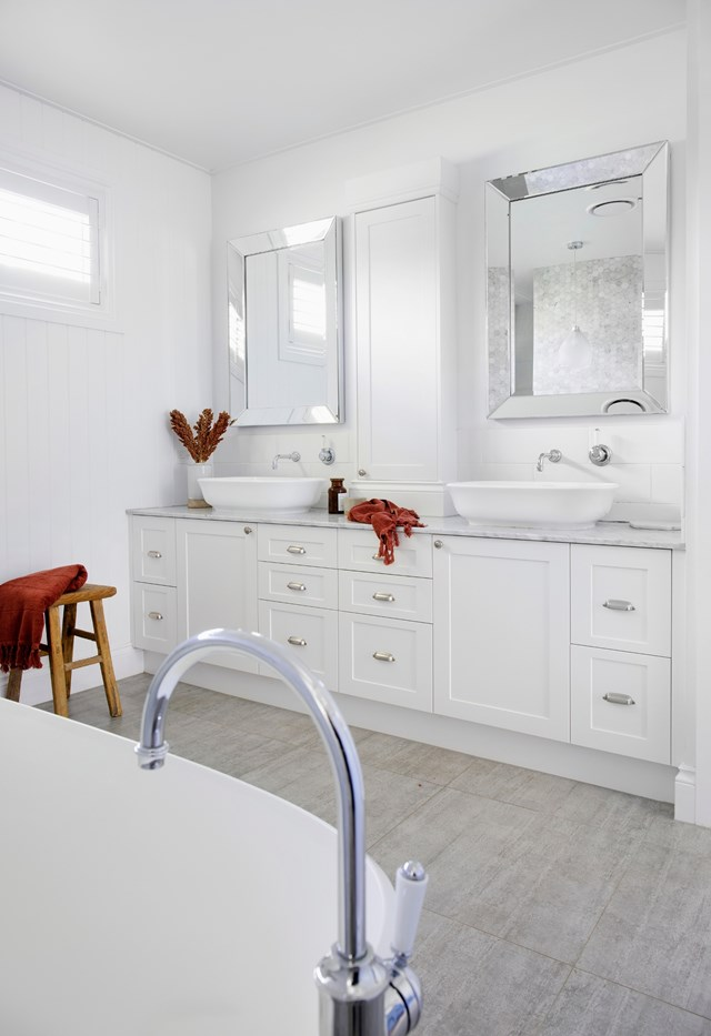 Undiluted hydrogen peroxide can disinfect and whiten discoloured grout.