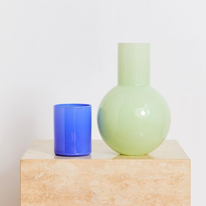 """**Anna Karlin Bedside Carafe, $280, [Bed Threads](https://bedthreads.com.au/products/anna-karlin-bedside-carafe-in-green-blue?_pos=1&_sid=ef92b826b&_ss=r