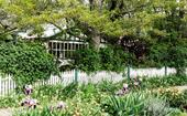 Mature trees and a 300-year-old eucalypt define this garden in Woodend