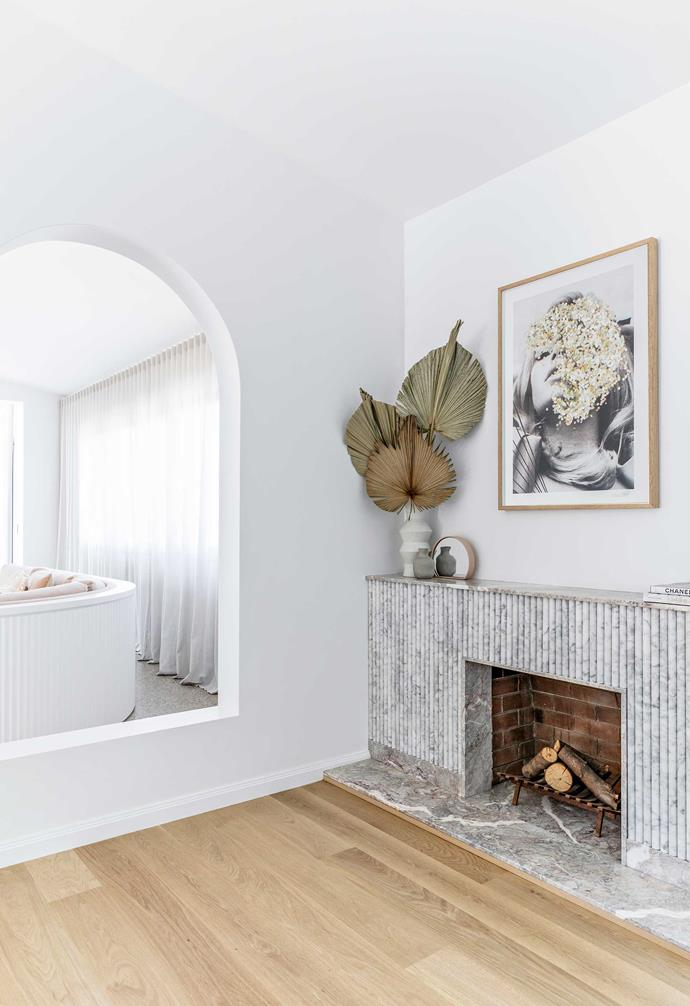 """**Library** Between the living and entertainment areas is a neat little space in which to read, warmed by an open fire and timber flooring by [Coach House Timbers](https://www.coachhousetimbers.com.au/