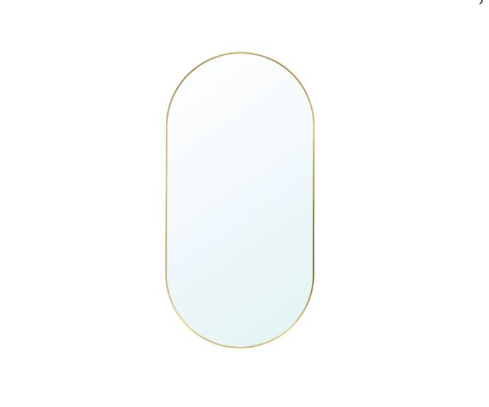 """**LINDBYN Mirro in gold, $79, [IKEA](https://www.ikea.com/au/en/p/lindbyn-mirror-gold-colour-70485598/