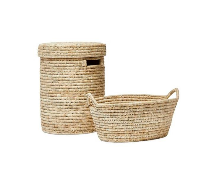 """**Home Republic Masai Natural Laundry Basket, $99.95, [Adairs](https://www.adairs.com.au/homewares/baskets/home-republic/masai-natural-laundry-basket/