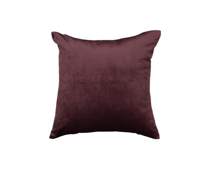 """**Windsor Cushion in Burgundy, $8, [Kmart](https://www.kmart.com.au/product/windsor-cushion---burgundy/3365824