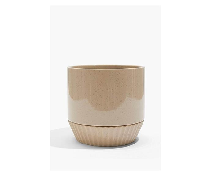 """**Voti Ribbed Base Pot in biscuit, $79.95, [Country Road](https://www.countryroad.com.au/voti-ribbed-base-pot-60258471-263