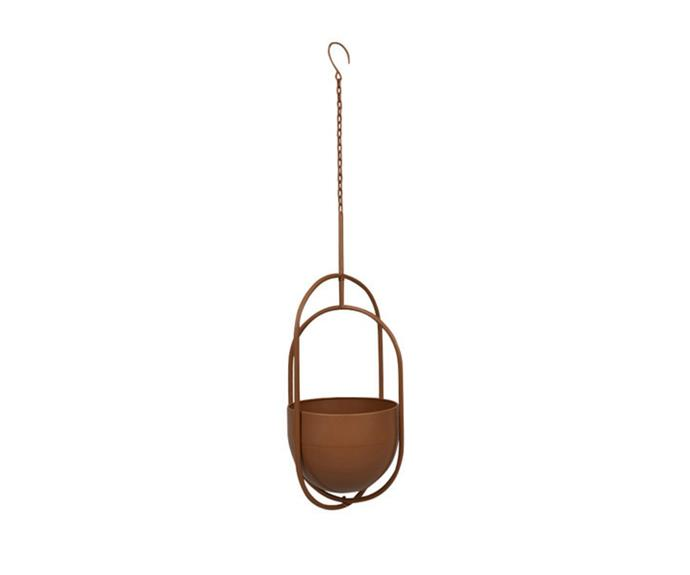 """**Hub Living Maarit Metal Hanging Planter, $49.95, [Temple & Webster](https://www.templeandwebster.com.au/Maarit-Metal-Hanging-Planter-GA1887-GA1888-HUBL1072.html?refid=GPAAU447-HUBL1072_200470714&device=c&ptid=1161883806126&PiID%5B%5D=200470714&gclid=CjwKCAjwqvyFBhB7EiwAER786bt1QJvZW9fkF5QjOw0nYsEEP8P4g_W_ZYha41GL22rVRTP70Ew9IxoC2psQAvD_BwE