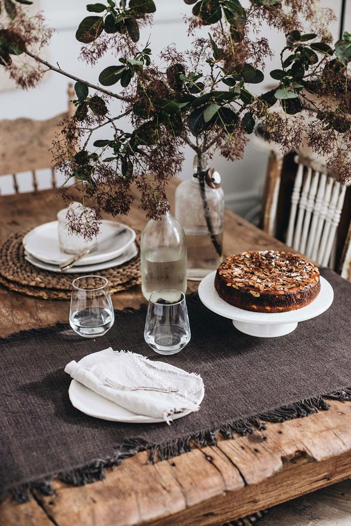 Moroccan spice cake is one of the treats Belinda bakes for guests.