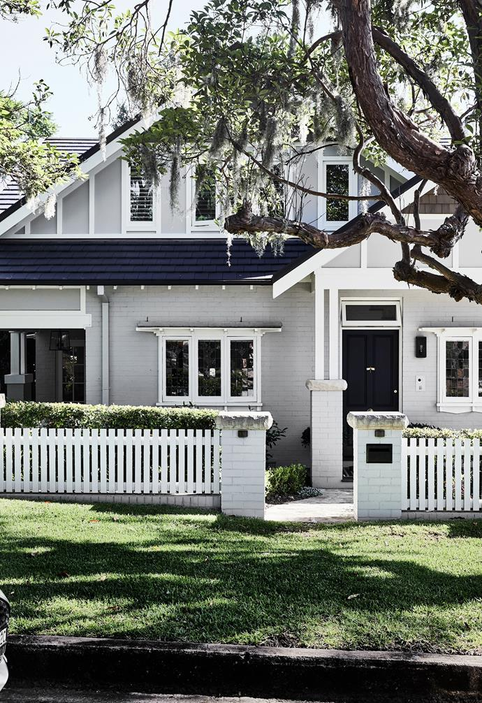 Painted in Dulux Silkwort, with crisp trims in Whisper White, Nerida and James' home exemplifies classic kerbside appeal. To retain a more traditional aesthetic in honour of the Californian Bungalow's heritage, architect Nerida moved the entrance from the side of the home to the front, and designed a new front portico with a matching gable. The result turns heads and draws compliments from passers by.