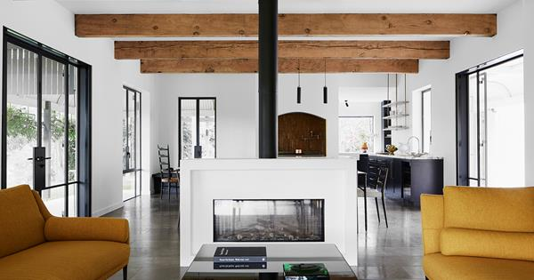 A contemporary meets rustic Provincial-style residence in Federal