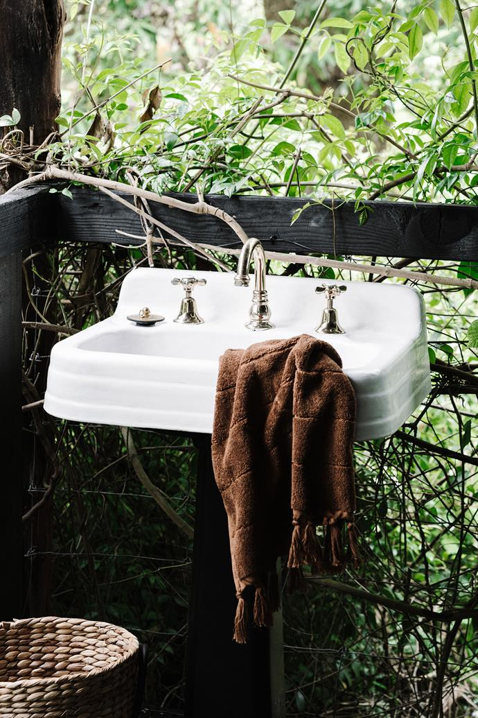 """[Climbing vines](https://www.homestolove.com.au/fast-growing-climbing-plants-1584 target=""""_blank"""") create privacy in the outdoor bathroom. <br></br>  **For information and bookings, visit the Steam's listing on [Dufflebird](https://www.dufflebird.com.au/en/787164/steam-train-carriage target=""""_blank"""" rel=""""nofollow"""") or [Airbnb](https://www.airbnb.com.au/rooms/7294998 target=""""_blank"""" rel=""""nofollow"""").**"""