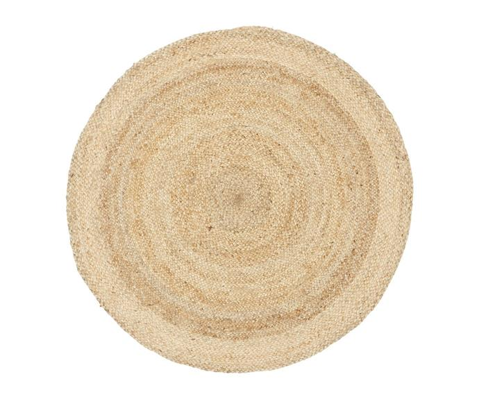 """**[Atrium Polo round jute rug, $275 (240cm), Living Styles](https://www.livingstyles.com.au/atrium-polo-round-jute-rug-240cm-natural