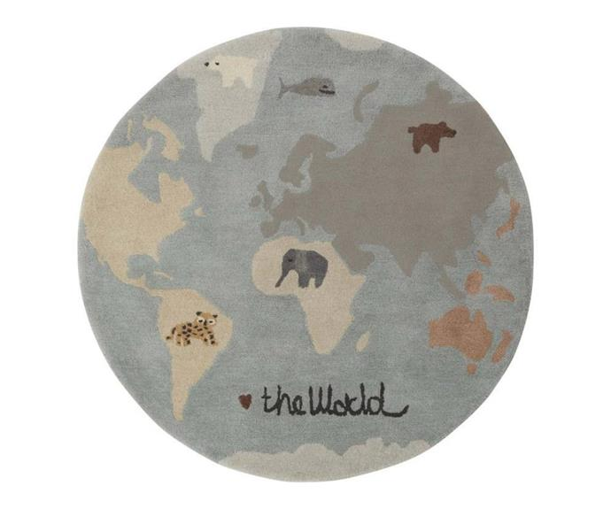 """**[OYOY The World Tufted Rug, $329 (120cm) DesignStuff](https://www.designstuff.com.au/product/oyoy-the-world-tufted-rug-120cm/