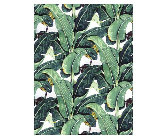 """**['Tropical' self-adhesive fabric wallpaper, starting at $74.67, Etsy](https://www.etsy.com/au/listing/674658840/banana-leaf-removable-wallpaper-tropical