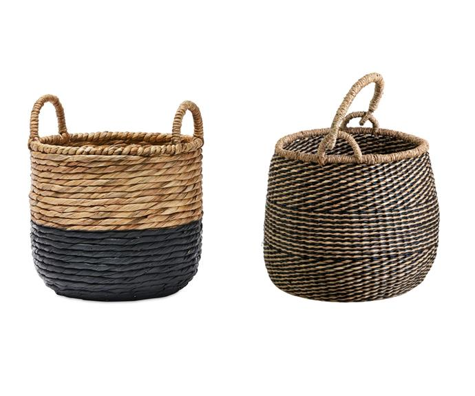 """Storage baskets  Keep the floor clear by investing in handy catch-all baskets. Here, we used a two-toned basket as a planter for a [bird of paradise](https://www.homestolove.com.au/plant-guide-bird-of-paradise-9647