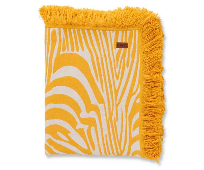 """**['Sandy Hills' woven throw, $249, Kip & Co](https://kipandco.com.au/collections/blankets-throws/products/sandy-hills-woven-throw