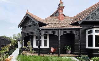 black-home-exterior