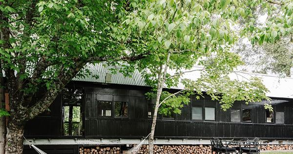 An old steam train carriage turned atmospheric holiday home