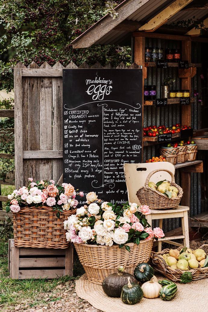 The farm gate stall.