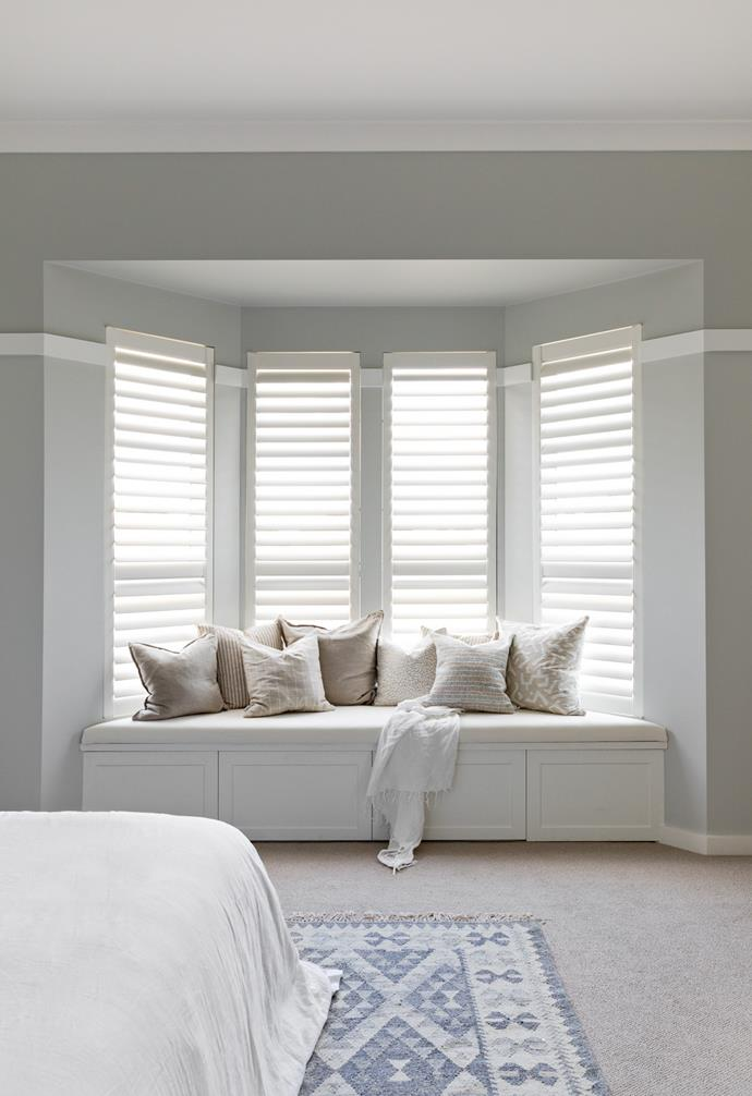 A bay window is the perfect nock for reading and relaxing during the day.