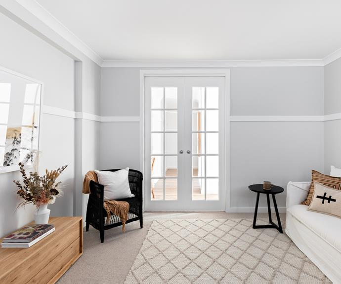 """""""We also love the glass feature doors used in certain rooms – they fit the cottage style home but they were strategically placed to bring light into the main hallways of the home."""""""