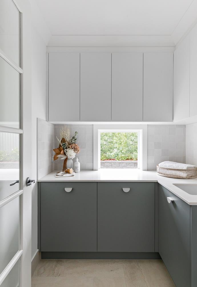 As it doubles as the linen cupboard, the laundry was designed with plenty of storage in mind.