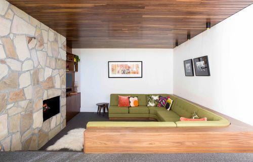 1970s sunken living room