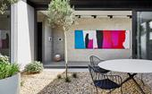 A bland semi transformed into a modernist, art-filled home