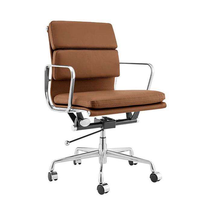 """**Matt Blatt Replica Eames office chair, $289, [Kogan](https://www.kogan.com/au/buy/matt-blatt-replica-eames-group-standard-aluminium-padded-low-back-office-chair-tan-leather-matt-blatt/