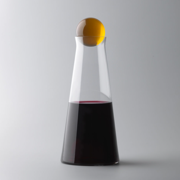 """Design House Stockholm 'Fia' carafe in Amber, $145, [Top3 by Design](https://top3.com.au/categories/bar-and-wine-and-water/carafes-and-decanters/fia-carafe/1750-0700