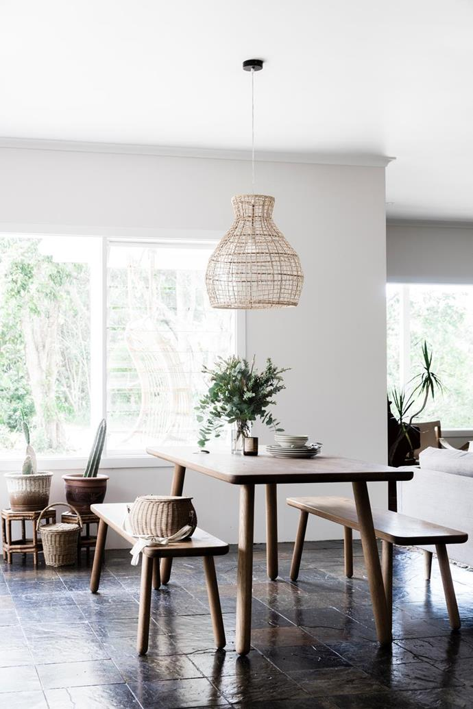 """This [1970s bungalow in the Byron Hinterland](https://www.homestolove.com.au/a-1970s-byron-bay-bungalow-updated-with-hygge-style-6983 target=""""_blank"""") was given some family-friendly updates, plenty of storage and a light, bright casual hygge style."""