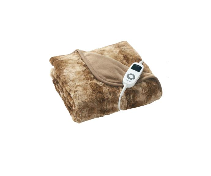 """There are few softer fabrics than a faux fur, so if you're after the ultimate winter accessory, this is the heated throw for you. If it's for your bed, the remote has  LED lighting so you can change safely change settings in the dark.  **Dreamaker Faux Fur Heated Throw, $119.95, [Zanui](https://www.zanui.com.au/Faux-Fur-Heated-Throw-203697.html?gclid=CjwKCAjwt8uGBhBAEiwAayu_9T9yjY0azxPbnuN9BVf62dL-a6h5zl-q-VyBWhKDXCBmkpRnLfAuhRoCrDgQAvD_BwE