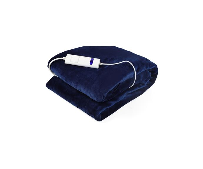 """Royally blue, this throw will add a bit of colour and comfort to your chilly couch, without making a dent in your bank account. The affordably option comes all the frills necessary. Extra plus, it's washable!  **Newtton Electric Throw in Royal Blue, $39, [Catch](https://www.catch.com.au/product/newtton-160x130cm-electric-throw-royal-blue-7323880/?sid=heated%20throw&sp=2&st=32&srtrev=sj-fun9hro7de5so8ao0nes7g.click