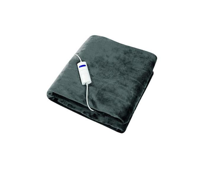 """For those of us who can't keep awake on the couch, this charcoal throw in fleece has an extra cautious 3hr auto turn off, so you don't need to worry about overheating, or blowing the electricity budget!  **Dimplex Dream Easy Micro Fleece Flannel Heated Throw in Charcoal, $79.95, [Matt Blatt](https://www.mattblatt.com.au/mb/buy/dimplex-dream-easy-micro-fleece-flannel-heated-throw-charcoal-dhdeht-09420033215232/