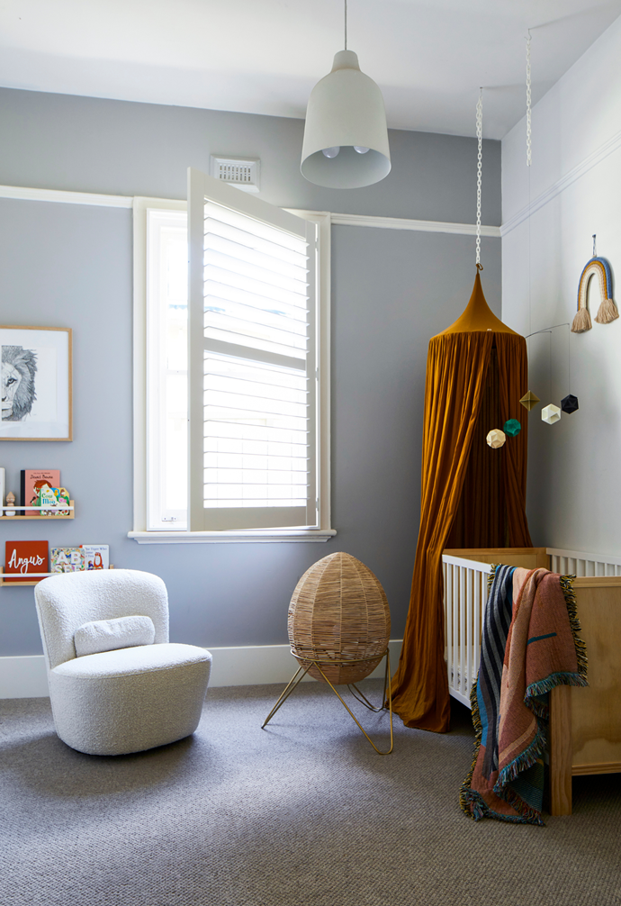 """""""I had so much fun styling the kids' bedrooms,"""" said the mother who styled the beautiful nursery in this [romantic heritage cottage in Melbourne](https://www.homestolove.com.au/heritage-white-cottage-modern-renovation-22356