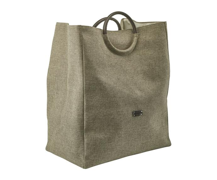 """**['Jada' laundry basket by Acquanova in beige, $87, Amara](https://www.amara.com/au/products/jada-laundry-basket-beige target=""""_blank"""" rel=""""nofollow"""")** <br></br> Carry washing from the bathroom to the laundry in style with this beige laundry hamper from Aquanova. Featuring two round black faux leather handles and a handy centre divide, this is a hamper that looks good and works hard too."""