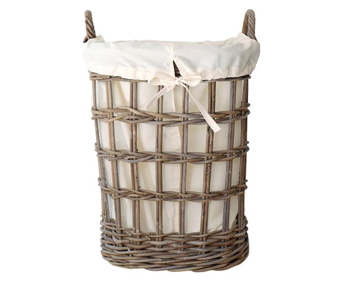 """[**'Claude' oval laundry basket, $74.95 (small), French Knot**](https://www.frenchknot.com.au/products.php?p=6021 target=""""_blank"""") <br></br> Cane laundry baskets are a must for [Hamptons style homes](https://www.homestolove.com.au/modern-hamptons-style-house-ideas-6152 target=""""_blank""""). This design from French Knot is a unique oval shape and made from cane in an antique grey colour. The open-weave also allows for plenty of airflow, preventing odours, bacteria and mildew getting trapped in the basket."""