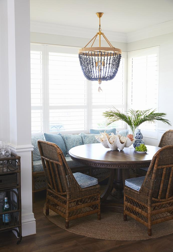 """When it's just Natalee, Mark and their two youngest daughters at home, they prefer to eat at the smaller more intimate [dining nook](https://www.homestolove.com.au/breakfast-nook-transformation-21274