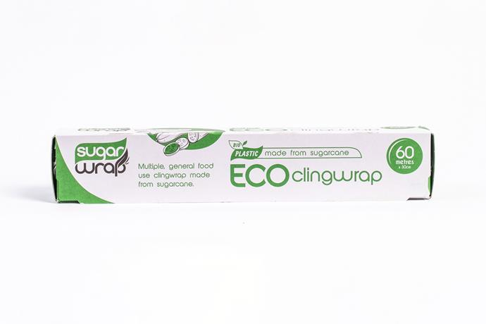 """**1.** Eco Cling Wrap, $9.95, [Urban Ethos](https://urbanethos.co/products/sugarwrap-eco-cling-wrap?variant=35599271854238 target=""""_blank"""" rel=""""nofollow"""")"""