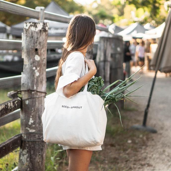 "**2.** Organic Pocket Tote Shopping Bag, $39, [Seed & Sprout](https://seedsprout.com.au/products/pocket-tote-shopping-bag?variant=12962658648087&glCountry=AU&glCurrency=AUD&gclid=CjwKCAjwrPCGBhALEiwAUl9X06xKjmMmdMbatbzyUdph0Ea8ZXaEJQNl1vJcmF1_5DpjwcKDkvVWbRoCzz4QAvD_BwE target=""_blank"" rel=""nofollow"")"