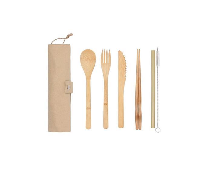 "**10.** White Magic Eco Basics Reusable Bamboo Cutlery Set, $11.99, [House](https://www.house.com.au/white-magic-eco-basics-reusable-bamboo-cutlery-set?SearchID=37687930&SearchPos=64 target=""_blank"" rel=""nofollow"")"