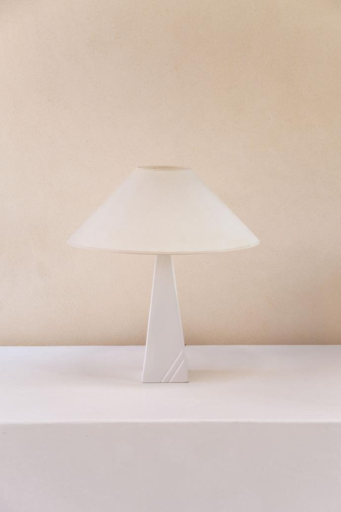 """Simple and sweet, Tigmi Trading have created a stylish modernist lamp that would suit any modern home. With a minimalist but statement shape, its monochrome tone makes it a timeless option.   **1980s Modernist Ceramic Table Lamp by Massive 02, $880, [Tigmi Trading](https://tigmitrading.com/collections/lighting-all/products/1980s-modernist-ceramic-table-lamp-by-massive-02