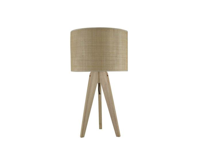"""For those of us who love a coastal rattan moment, this chic three-legged table lamp is ideal for your home. In a muted beige, it would look at home in the corner of any beach house or Scandi-style abode.   **Porcini Table Lamp, $149, [Freedom](https://www.freedom.com.au/product/24357241