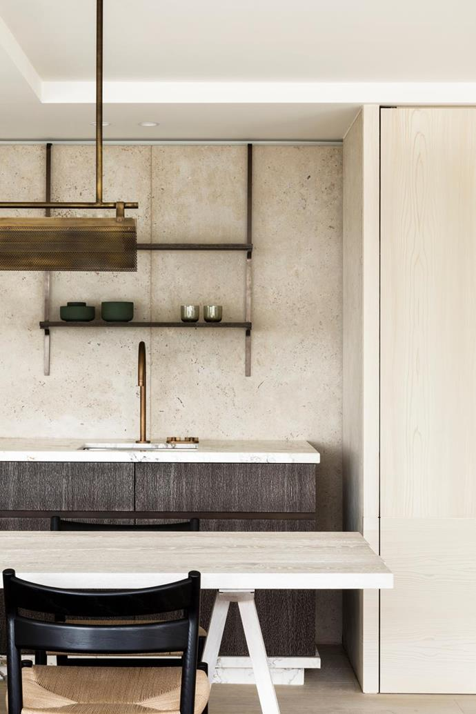 """The scheme in this [timeless kitchen design](https://www.homestolove.com.au/kitchen-trends-that-wont-go-out-of-style-19075