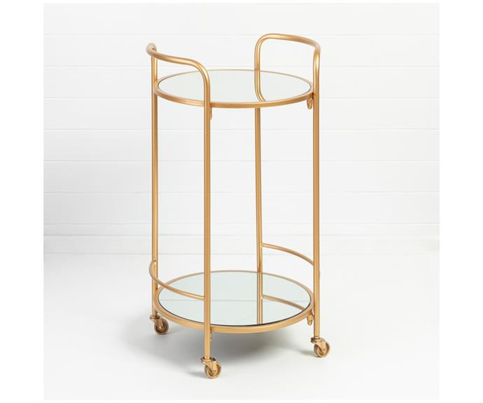 """**Martini Bar Cart, $149.95, [Pillow Talk](https://www.pillowtalk.com.au/martini-bar-cart-hablmartin21/