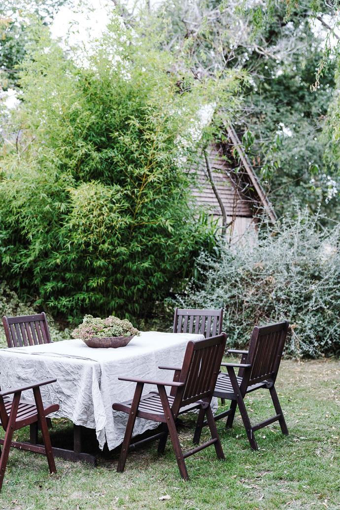 The garden has some lovely spots for alfresco lunches.