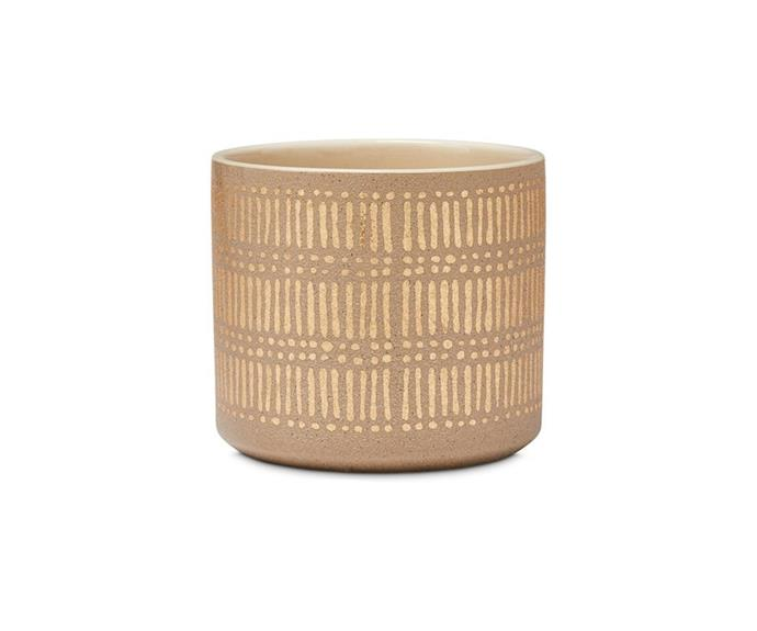 """**Home Republic Village Grange Natural Gold Pot, $29.99, [Adairs](https://www.adairs.com.au/homewares/pots-plants/home-republic/village-grange-natural-gold-pot/