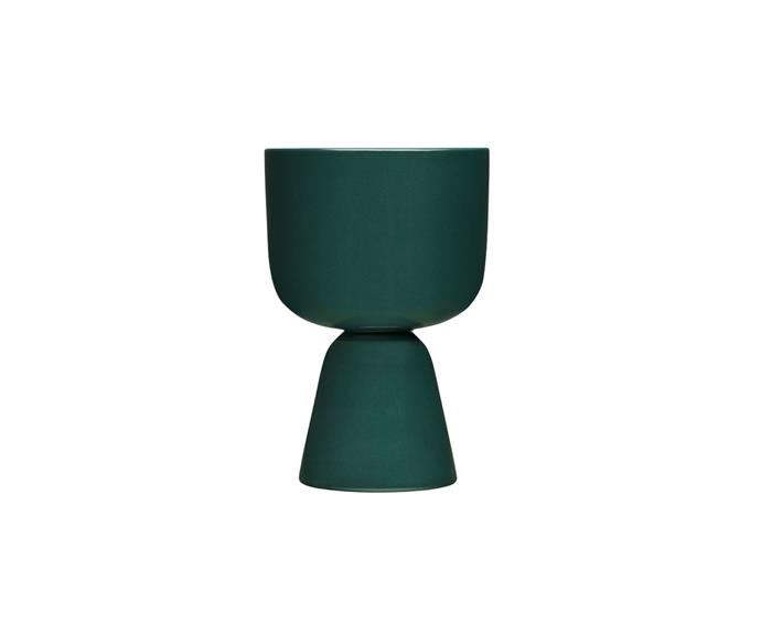 """**Iittala Nappula plant pot in dark green by Matti Klenell, $93.50, [Finnish Design Shop](https://www.finnishdesignshop.com/decoration-indoor-gardening-planters-plant-pots-nappula-plant-pot-230-155-dark-green-p-26784.html