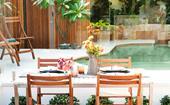 Urban oasis: a tropical family-friendly garden makeover