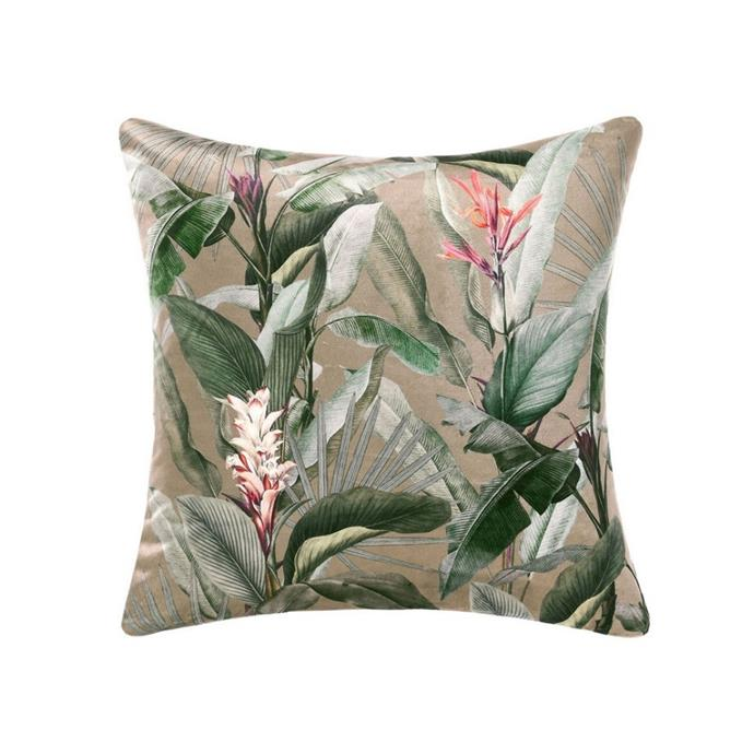 """**Linen House Emiliano Cushion, $59.99, [Myer](https://www.myer.com.au/p/linen-house-emiliano-cushion target=""""_blank"""" rel=""""nofollow"""")**<br><br> For those who love a botanical print, it's hard to look past this elegant design. This statement-making cushion will create a sense of luxury and cosiness, be it on your bed, couch or favourite armchair."""