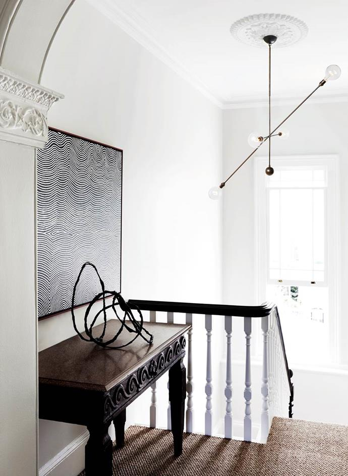 """With a keen interest in architecture and interior design, owner and health professional Peter Stewart tackled the renovation of this [Victorian terrace](https://www.homestolove.com.au/luxury-home-tour-historical-sydney-terrace-3559 target=""""_blank""""), with the help of a heritage architect. While respecting its heritage and period features the home was injected with a subtly modern aesthetic."""