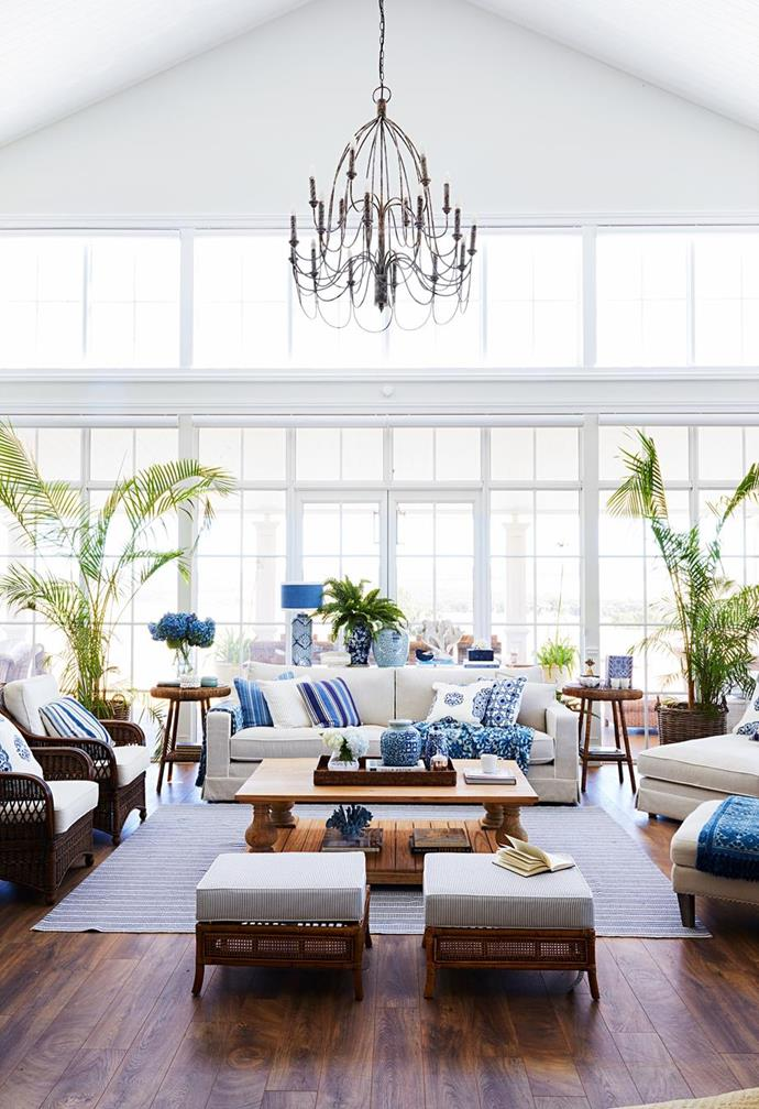 """Homeowners Natalee and husband Mark had long fantasised about buying the cottage that his great-grandfather built. When the dream was realised two years ago, a grand plan to renovate the decrepit little house into a [grand Hamptons-style farmhouse](https://www.homestolove.com.au/grand-hamptons-country-farmhouse-22797